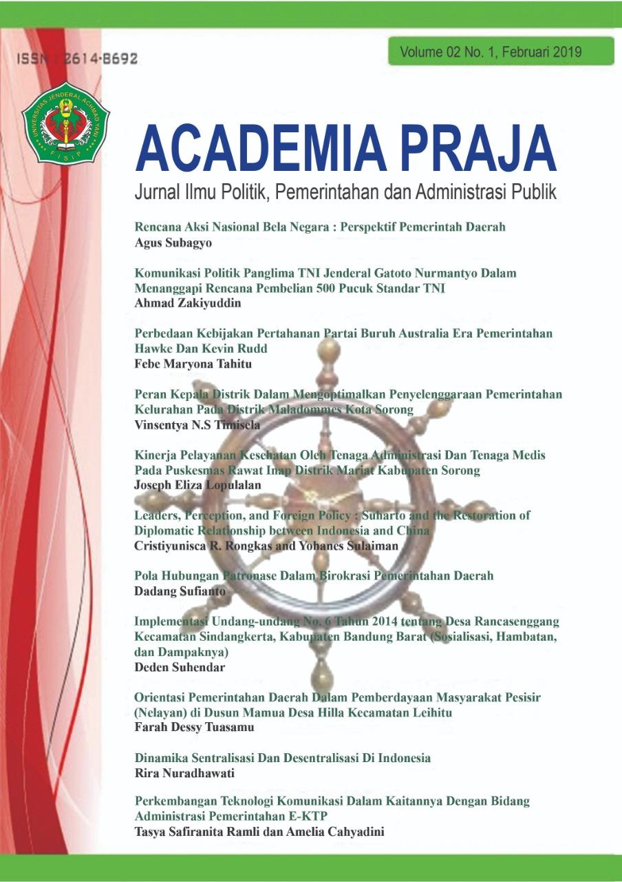 Academia Praja Vol 2 No 1